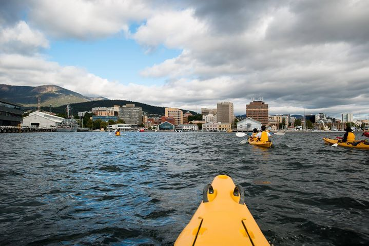 We seem to be spending a lot of time on the water this summer. We had an awesome morning out on the Derwent River with Roaring 40s Kayaking including getting up close to the yachts in Sullivans Cove and seeing the massive cruise ship in town as well.