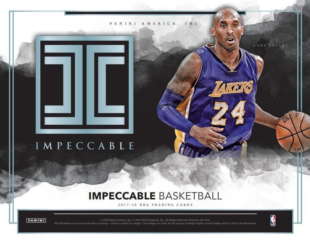 201718 panini impeccable basketball hobby 3box case