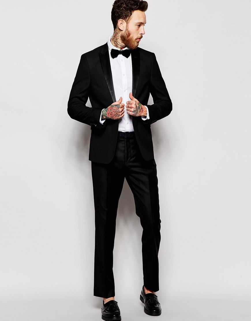 ASOS+Tuxedo+Suit+in+Slim+Fit+ | Prom Suits | Pinterest | Fancy and Prom