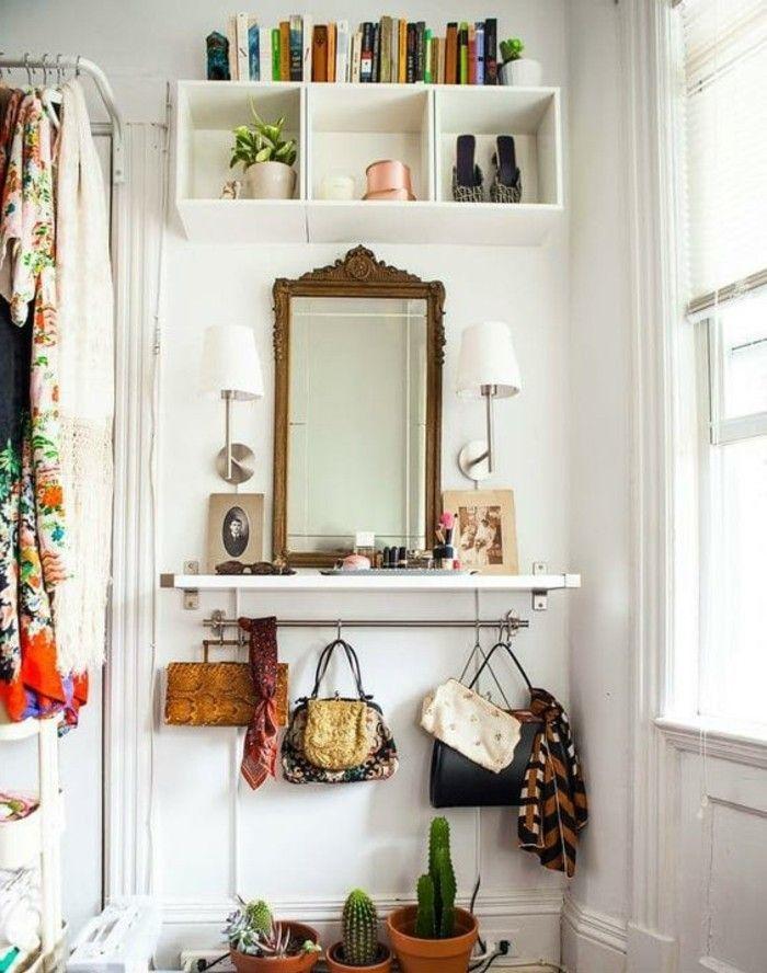 10 Qm Zimmer Einrichten Flur Regale Spiegel Zwei