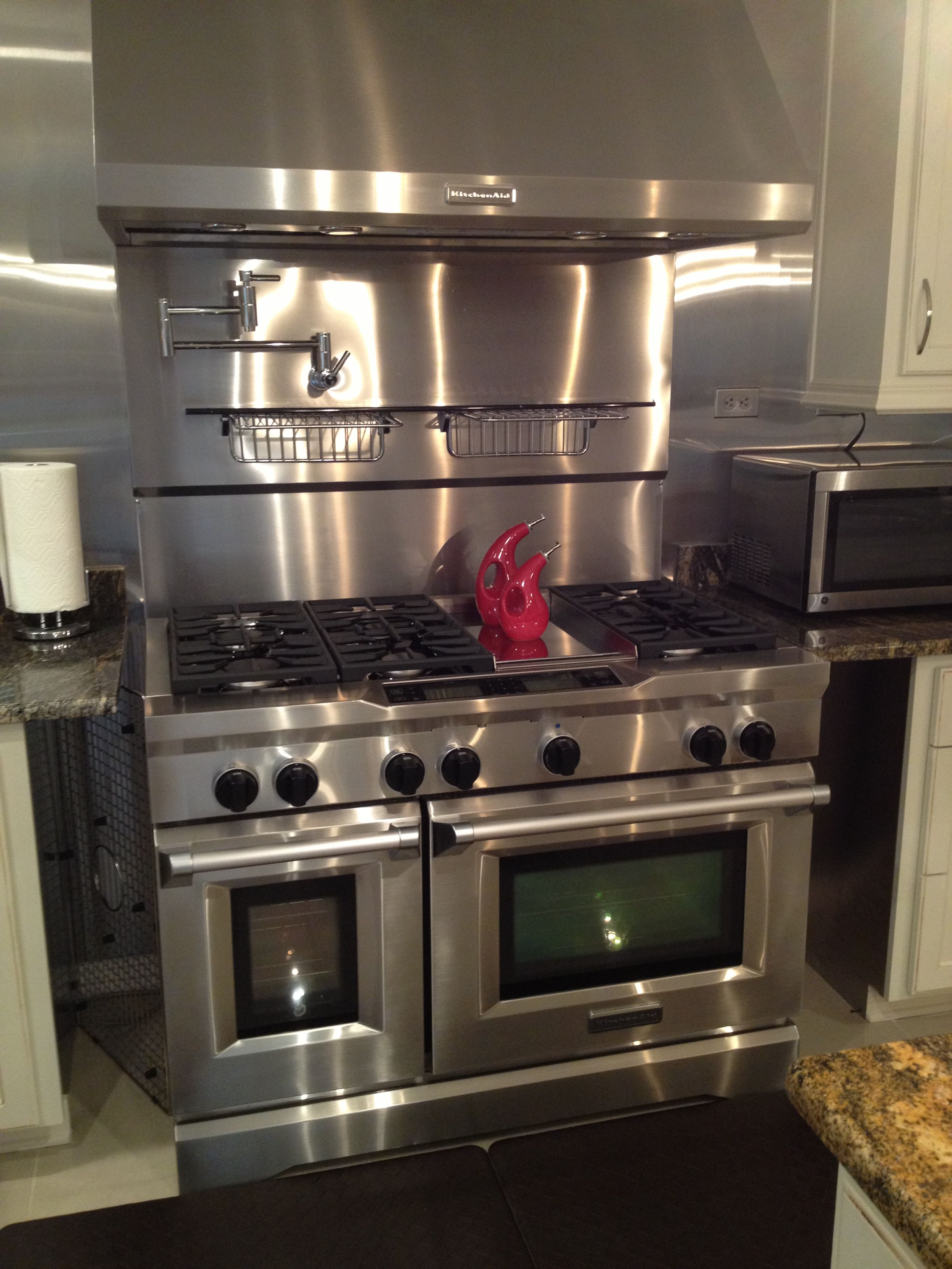 48 kitchenaid double oven with 6 burner and grill it