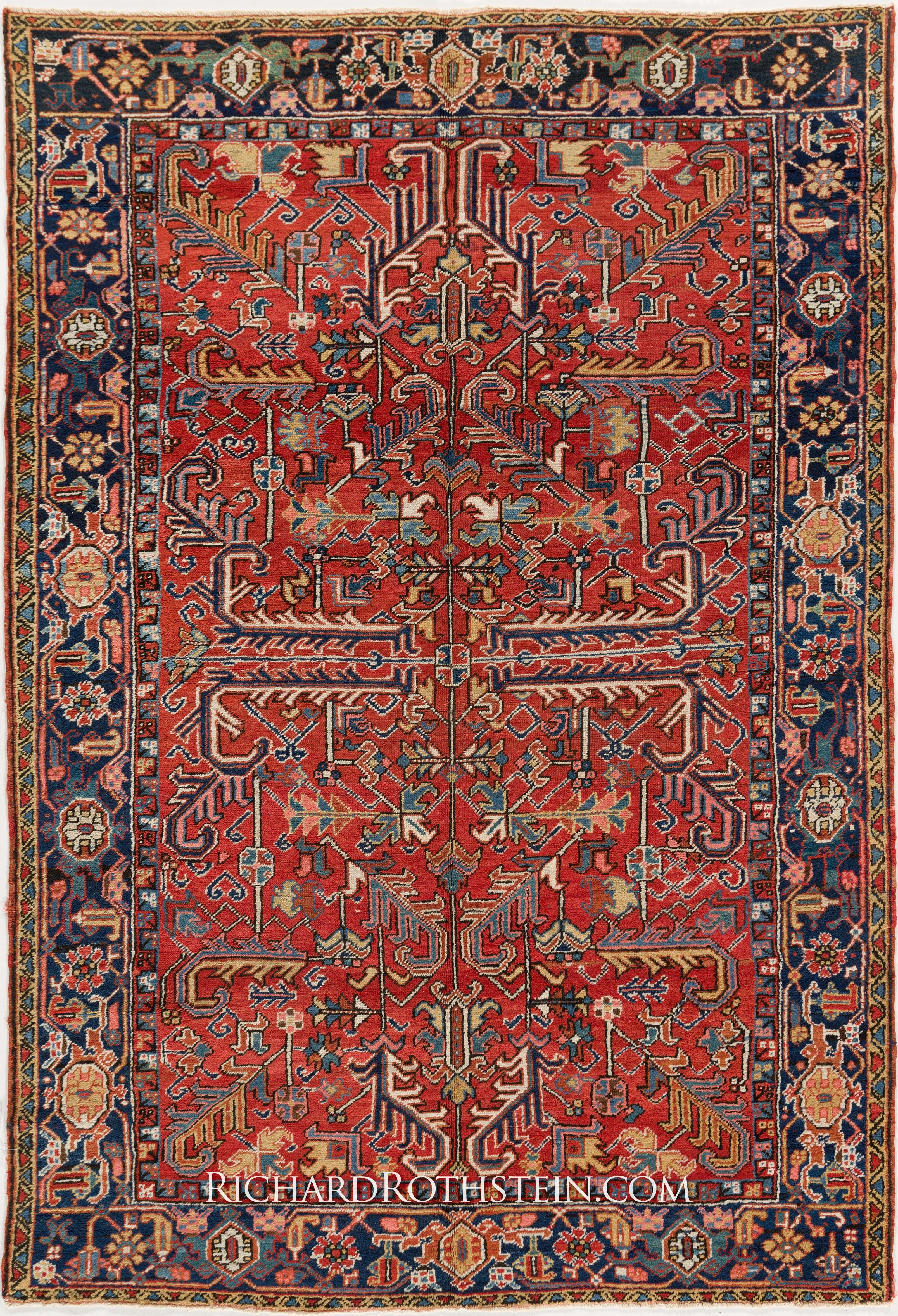 Antique Heriz Oriental Rug Size 6