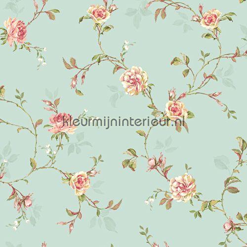 Romantisch Behang Rozen Bloemen   behang   Roze