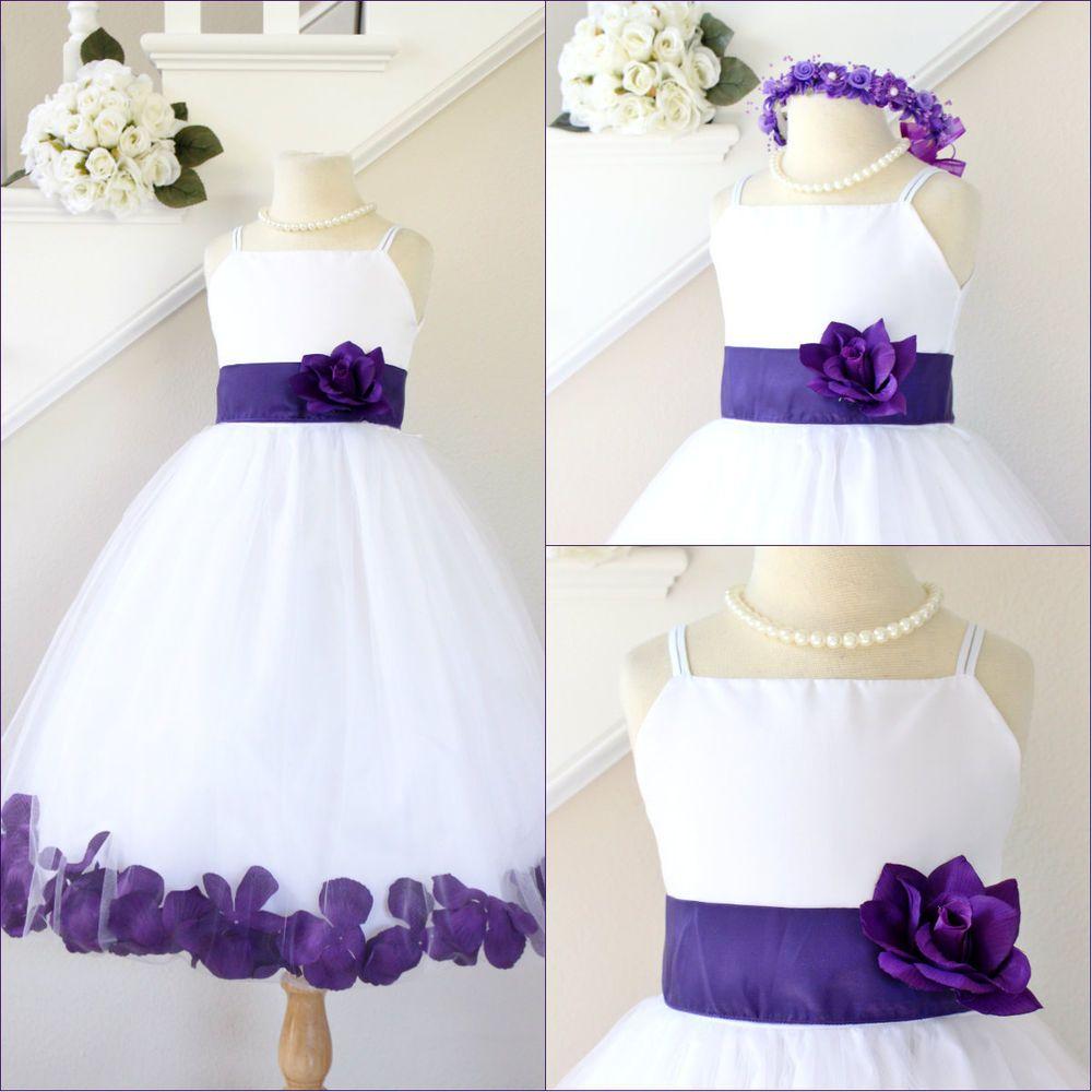 Lapis color flower girl dress