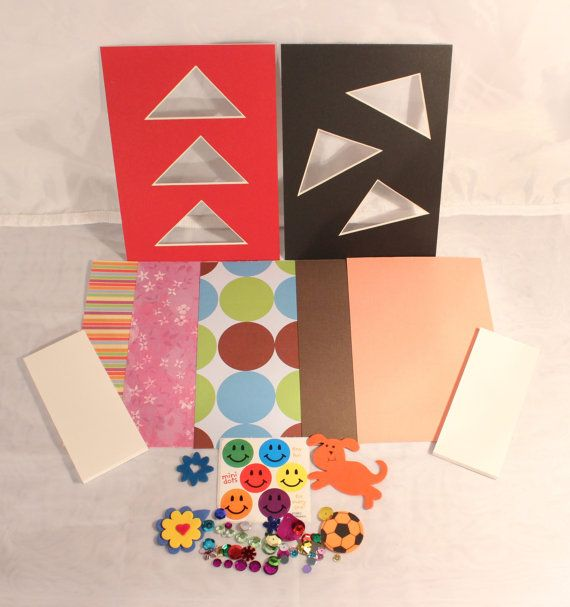These simple, yet fun, 5 x 7 picture frame mat kits are the perfect ...