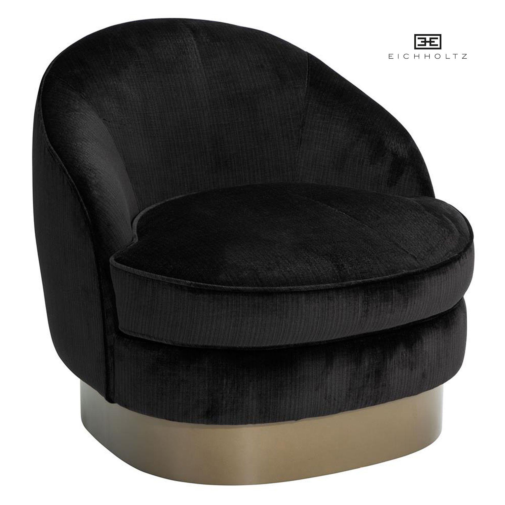 Zwart Velours Fauteuil.Eichholtz Fauteuil Chair Bastide Fauteuil Zwarte Stof Met Gouden