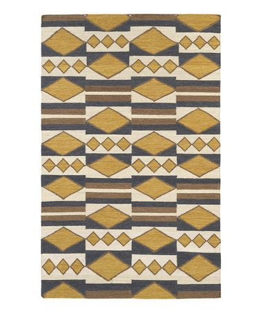 Loving this Gold Nomad Wool Rug on #zulily!