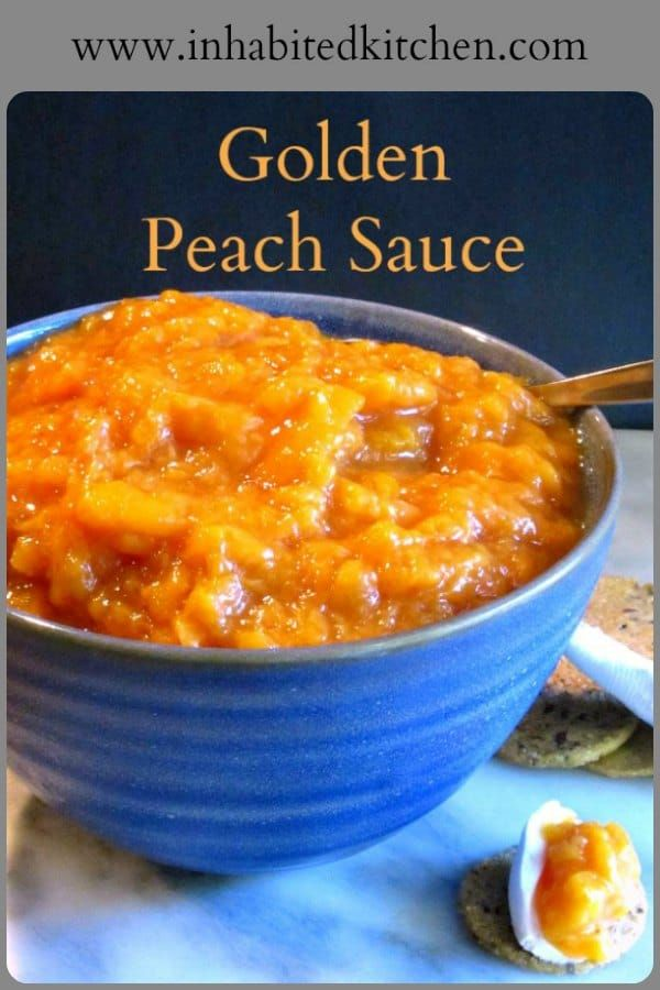 how to make peach sauce for babies