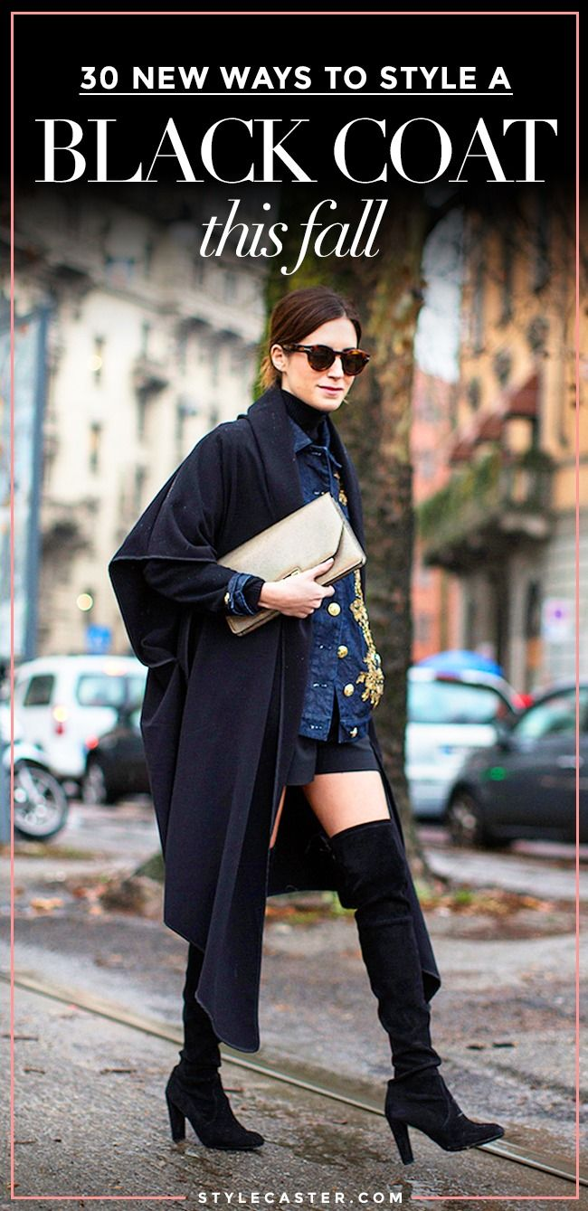 08fd1434d51 30 Ways to Jazz Up a Classic Black Coat | Fall & Winter Outfit Ideas ...