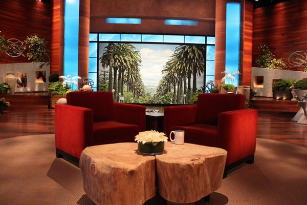 Get A Closer Look At Ellen S New Set With Images Tv Set Design