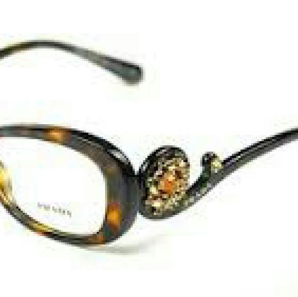 ae3c288be297 Prada eyeglasses Prada eyeglasses New and Authentic Brown frame with  crystals on both sides Includes original Prada case Prada Accessories  Glasses