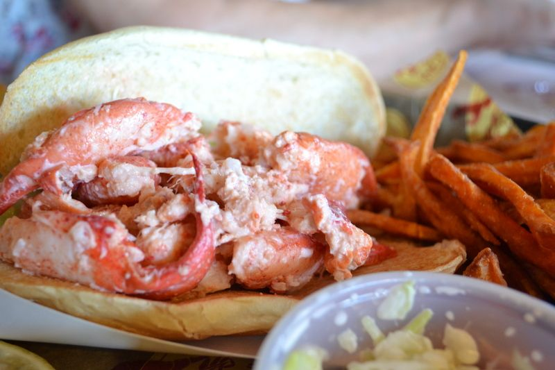 Boston Lobster Roll At The Barking Crab Restaurant Ma Photo By