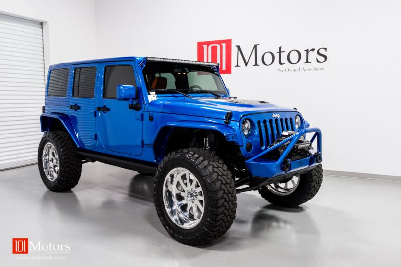 2015 Jeep Wrangler Unlimited Hardtop Hydro Blue Pearl Custom