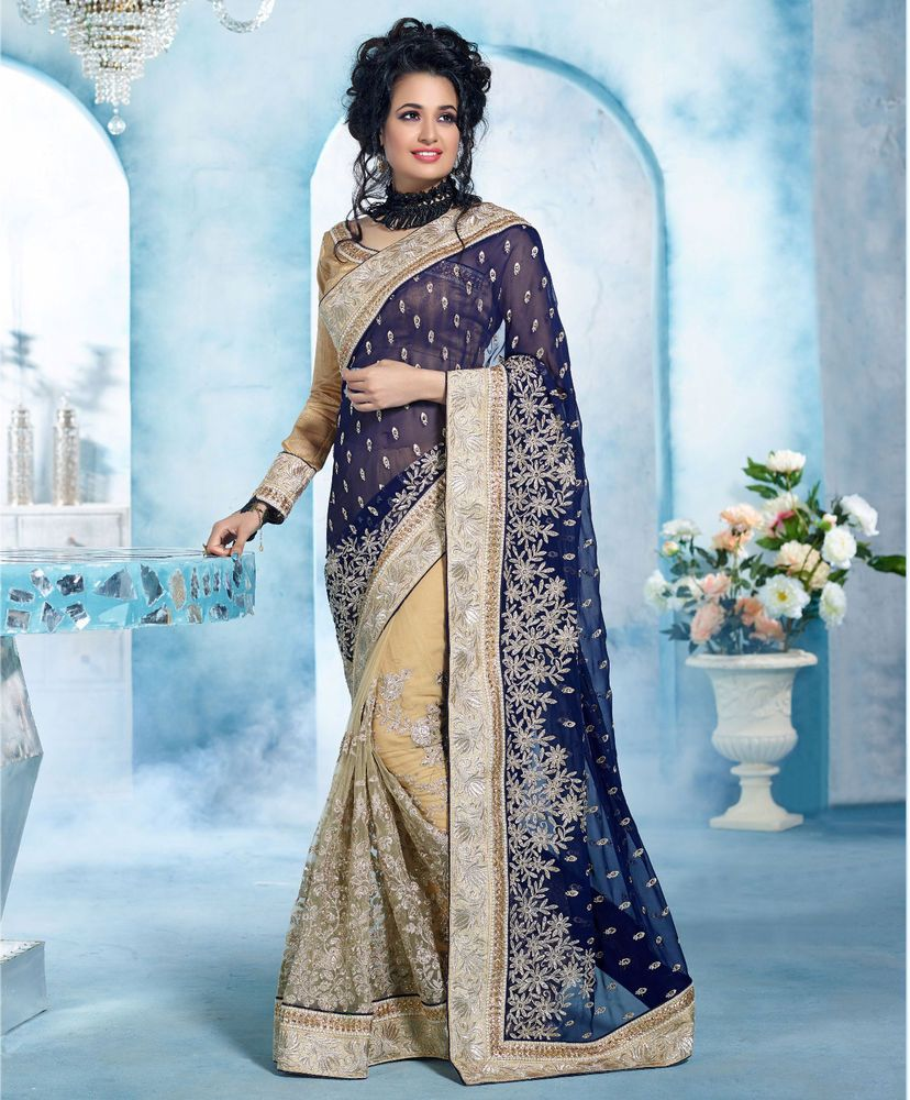 UK Designer Saree Sari Traditional Indian Bollywood Party Bridal ...