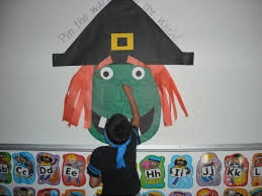 pin the wart on the witch game for this halloween
