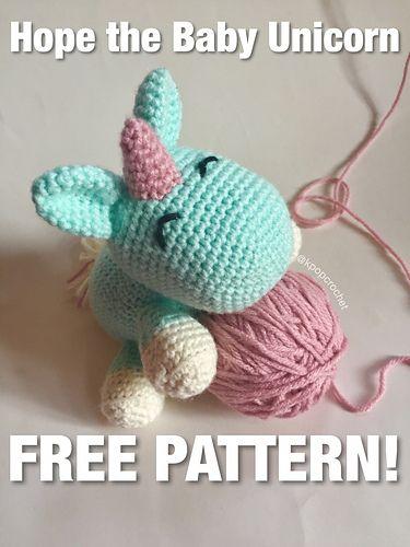 Free, easy amigurumi baby unicorn pattern. | amigurumi unicorn ...