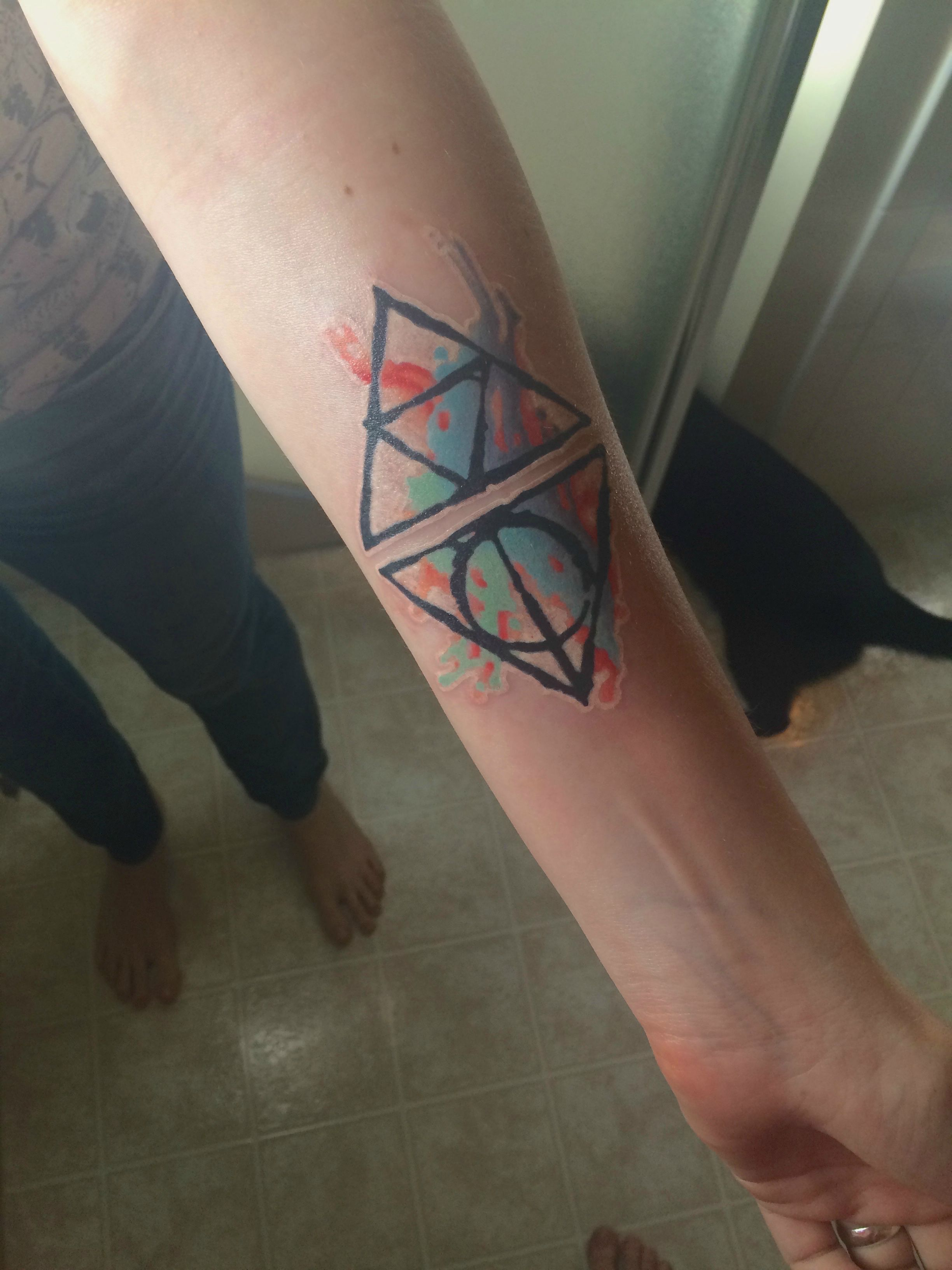 Ly Hallows Triforce Tattoo By Kenny Jack Browns Tattoo Revival In Fredericksburg