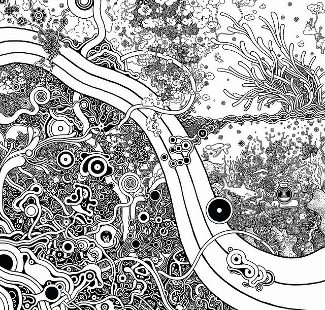 swirls kinda remind me of klimt's tree of life for some reason..weird since they look nothing like each other