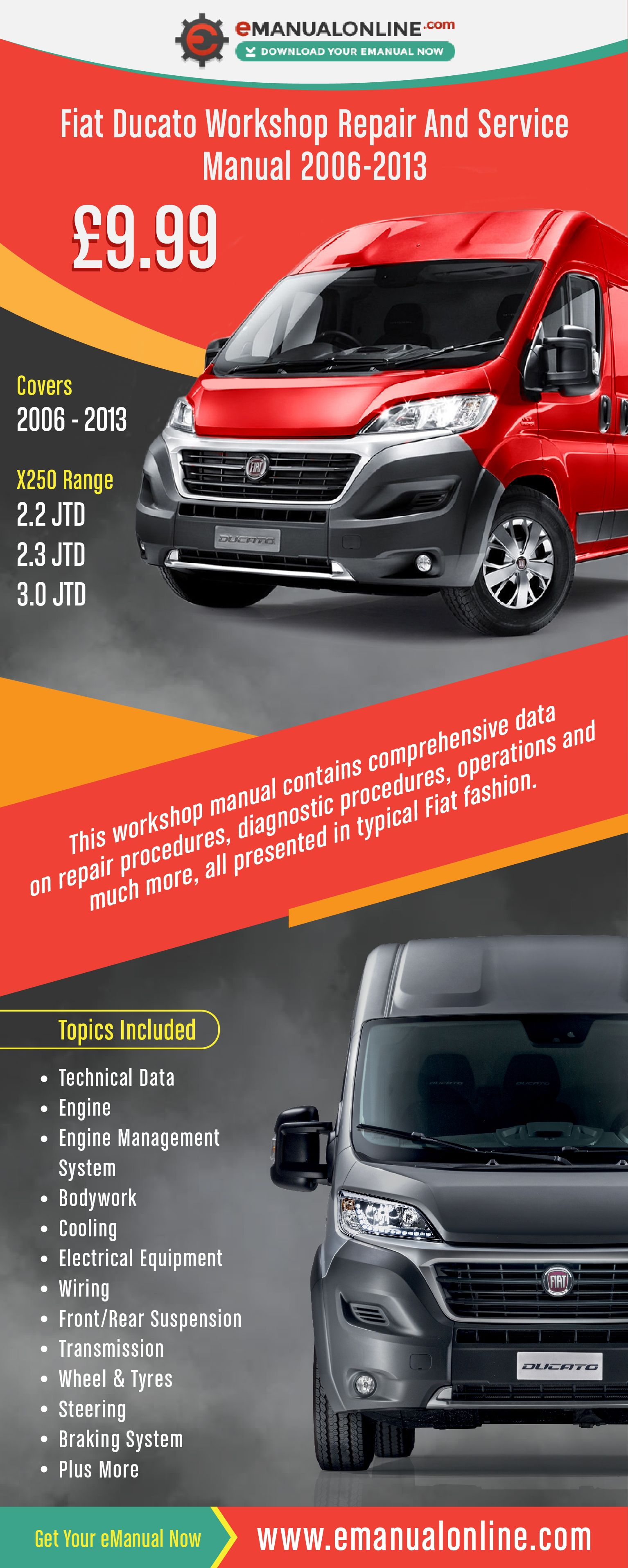 Fiat Ducato Workshop Repair And Service Manual 2006 2013 This Workshop Manual Contains Comprehensive Data On Repair Proc Car Repair Service Fiat Ducato Repair