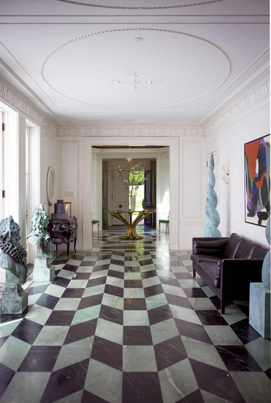 Hollywood Regency Hallway Photos In 2020 Floor Design Marble