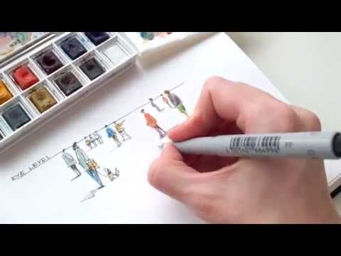 human figures for architectural sketches - architecture daily