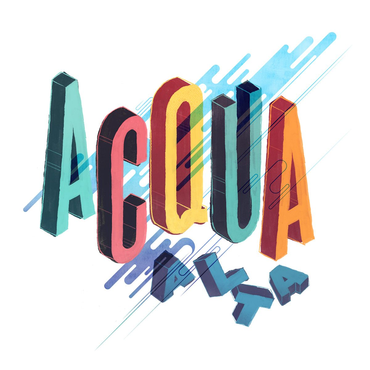Acqua Alta - Venice, Italy. #Design by Jay Quercia. #type #shirt