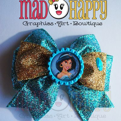 'a whole new world' bow w/ bottlecap