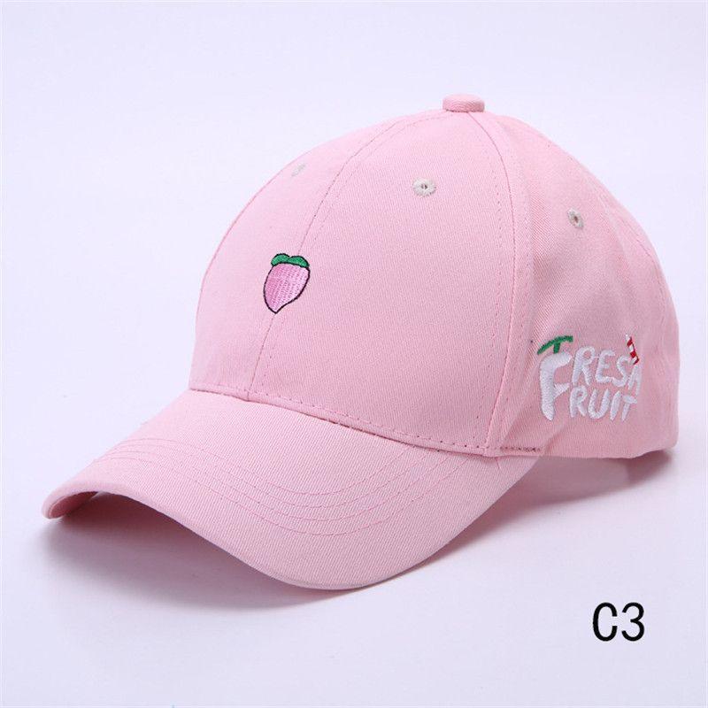 b325ea06959 Ladies  Cute Baseball Cap Spring Cotton Caps for Women Casual fruit fish  Pattern Hat Fashion Snapback gorras beisbol B063