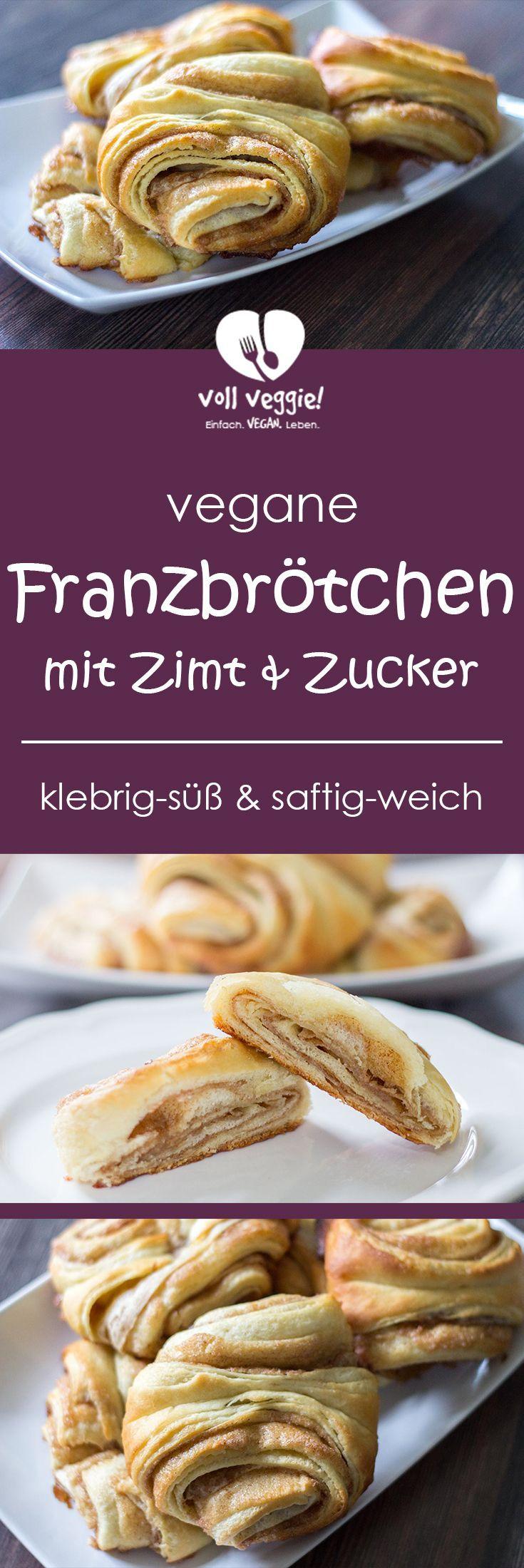Vegane Franzbrötchen