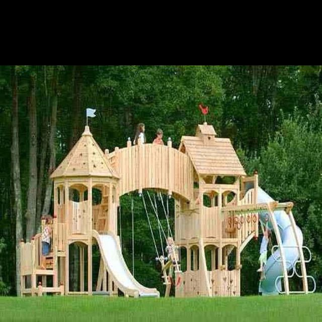 A Princess Castle Swing Set! I Can See Charlie Insisting