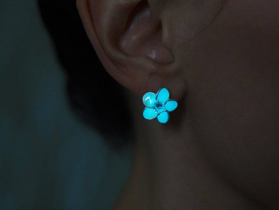 elegant shoes great fit save up to 80% Glow in the Dark Earrings - Glowing Flowers - Flower with ...