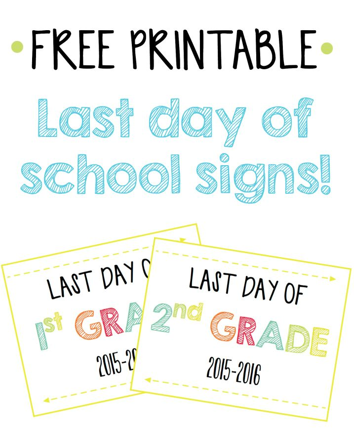It's just an image of Shocking Last Day of School Printable