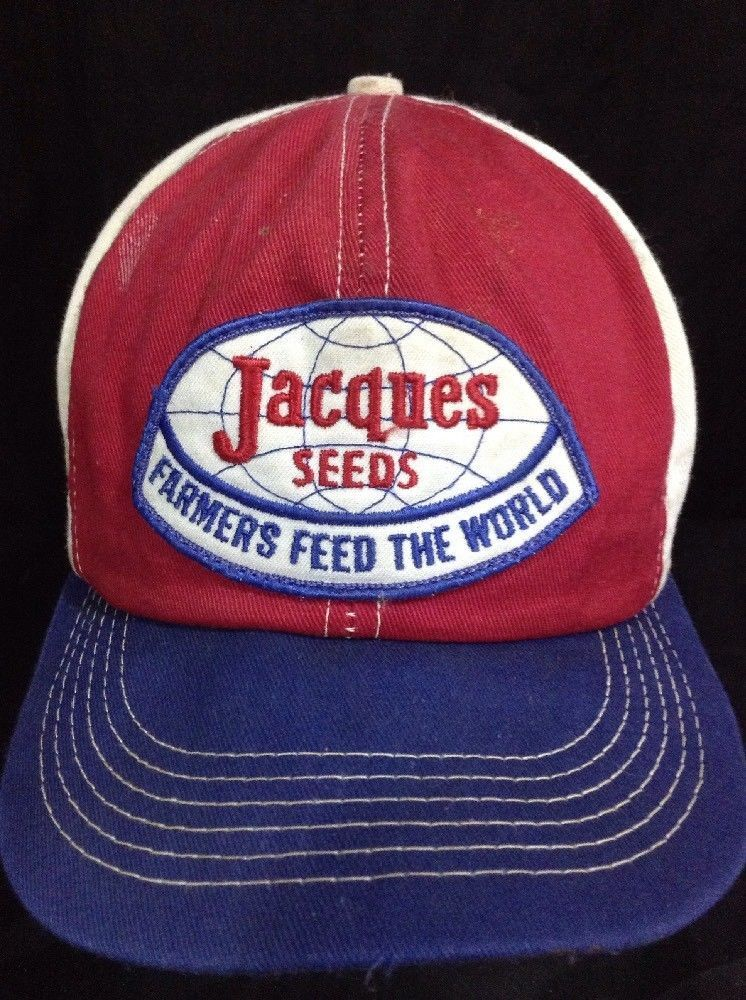 c5f875ed Vintage Jacques Seeds Farmers Feed Tricolor Snapback Hat K- Brand USA Cap  #KBrand
