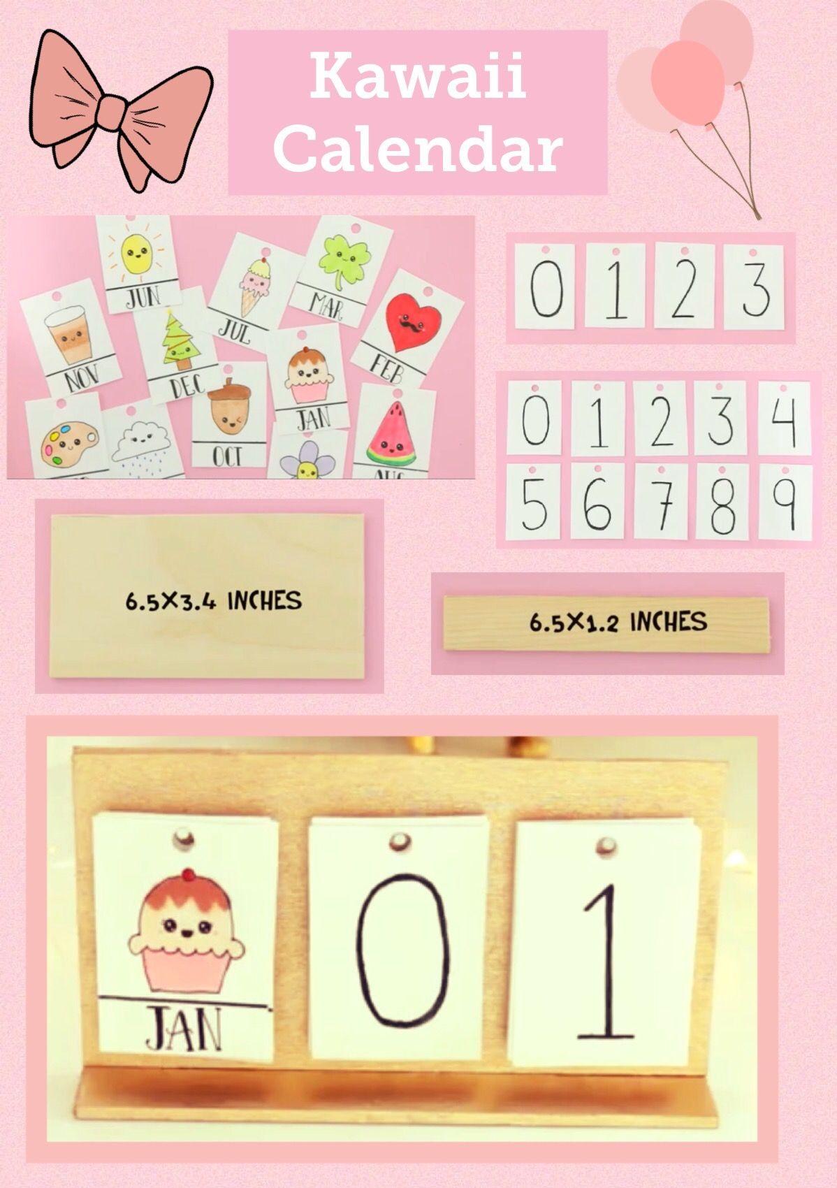 Nim C Diy Calendar : Kawaii kalender elişleri pinterest diys diy school