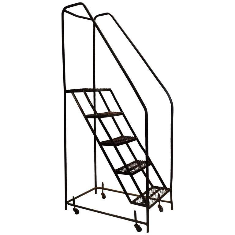 Best American Industrial Steel Rolling Stair Ladder In 2019 640 x 480