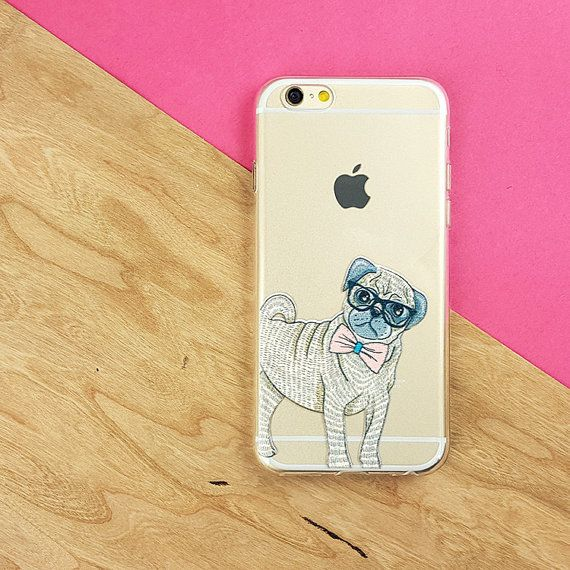 Pug iPhone 6 case clear case galaxy s6 animal dog by LovinaCases