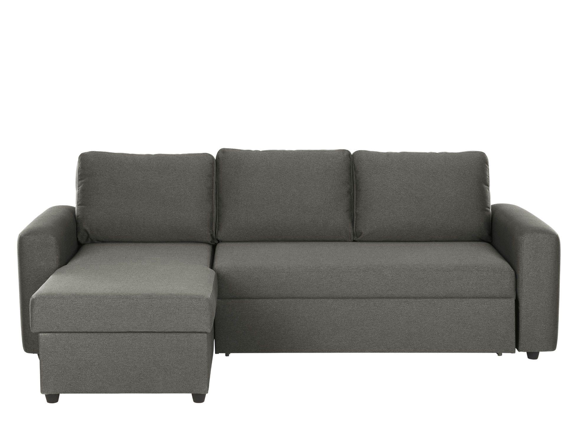 Aidian Corner Storage Sofa Bed, Pigeon Grey Sofa bed