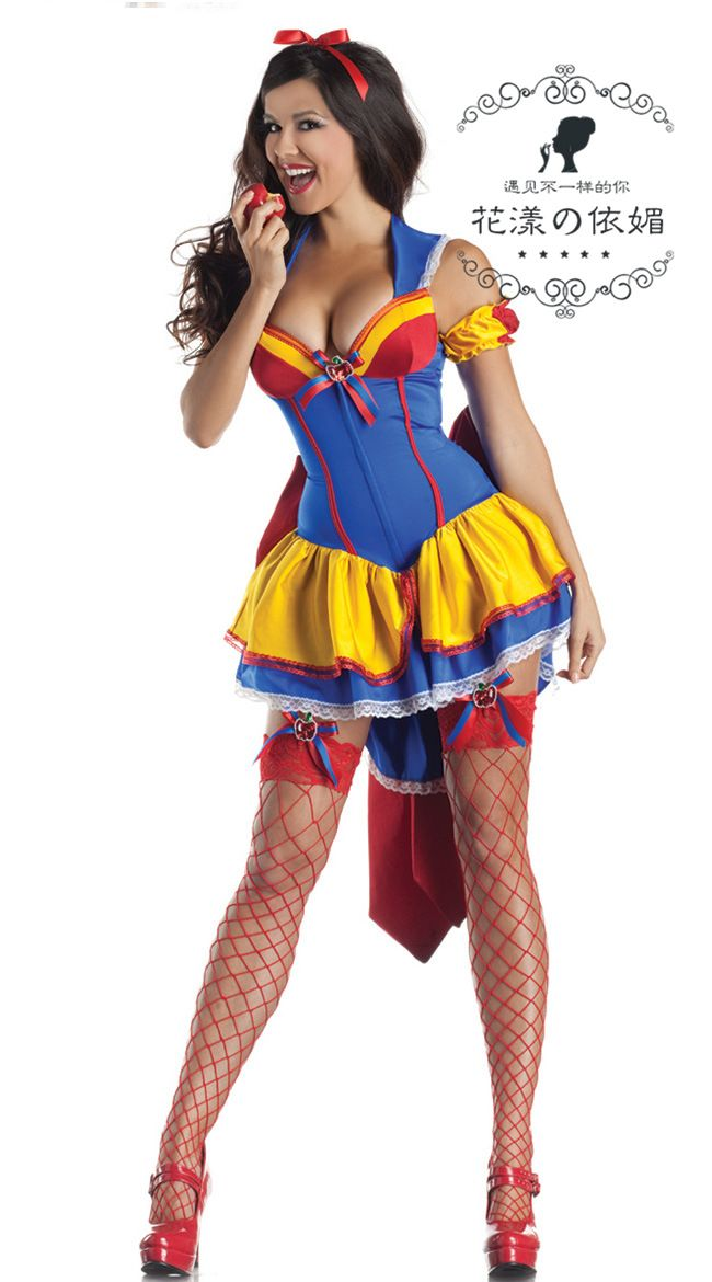 disney women ladies fancy dress party snow white role play for halloween carnival christmas cosplay costumes - Wholesale Halloween Costumes Phone Number