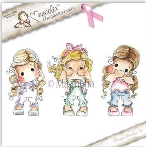 The Rubber Buggy  - Magnolia Stamps - Pink Ribbon Tilda - Hear No, See No, Speak No - Set of Three, $29.99 (http://www.therubberbuggy.com/magnolia-stamps-pink-ribbon-tilda-hear-no-see-no-speak-no-set-of-three/)
