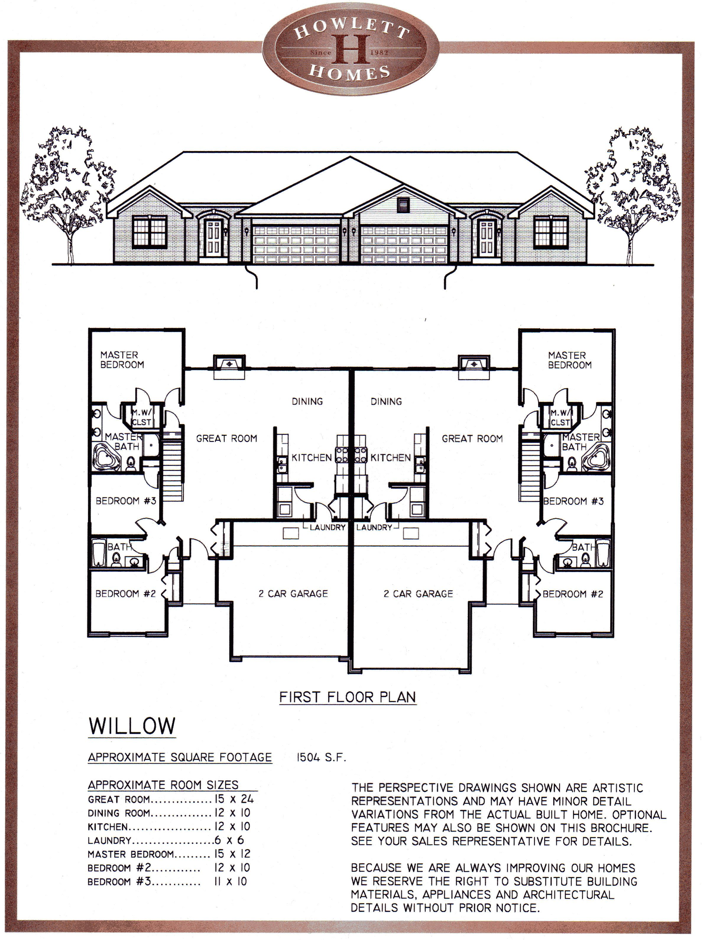 Willow Floor Plan Jpg 2375 3180 Pixels Duplex Floor Plans Duplex House Plans Duplex House Design