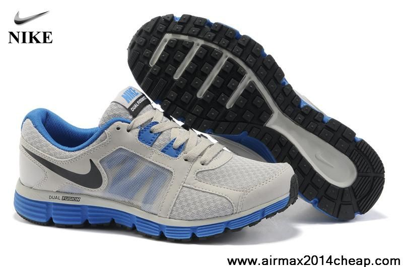 official photos 0bedb ec295 Low Price 454242-002 Mens Wolf Grey Treasure Blue Black Nike Dual Fusion ST  2 Shoes Store