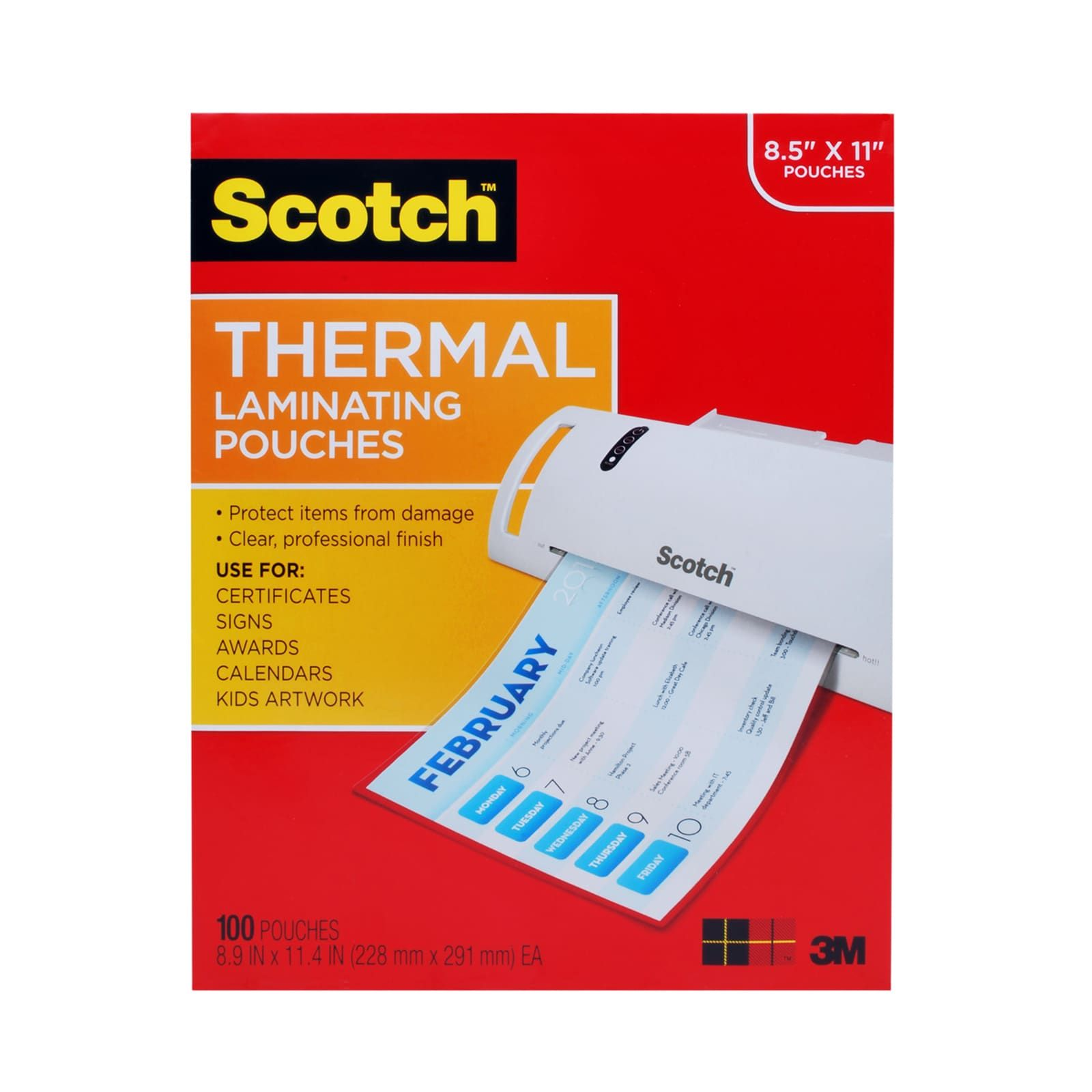 Scotch Thermal Laminating Pouches With Images
