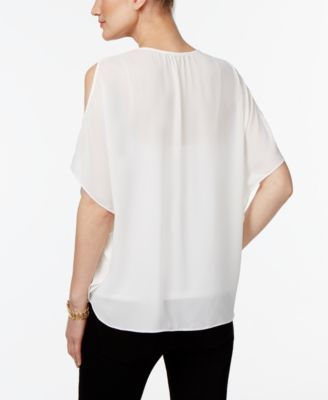 Inc International Concepts Cold-Shoulder Top, Only at Macy's - Orange XXL