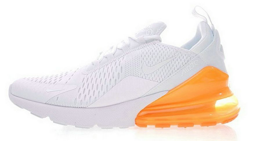 2018 的 Nike Air Max 270 White Orange Ah8050 102  19a74e602