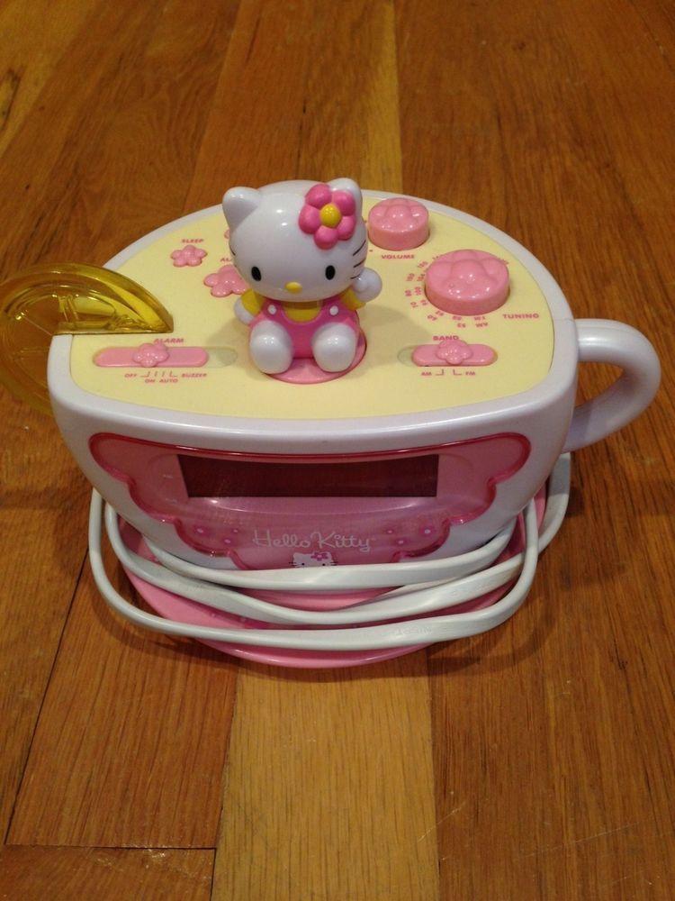 Hello Kitty Tea Cup AM/FM Alarm Clock Radio with Night