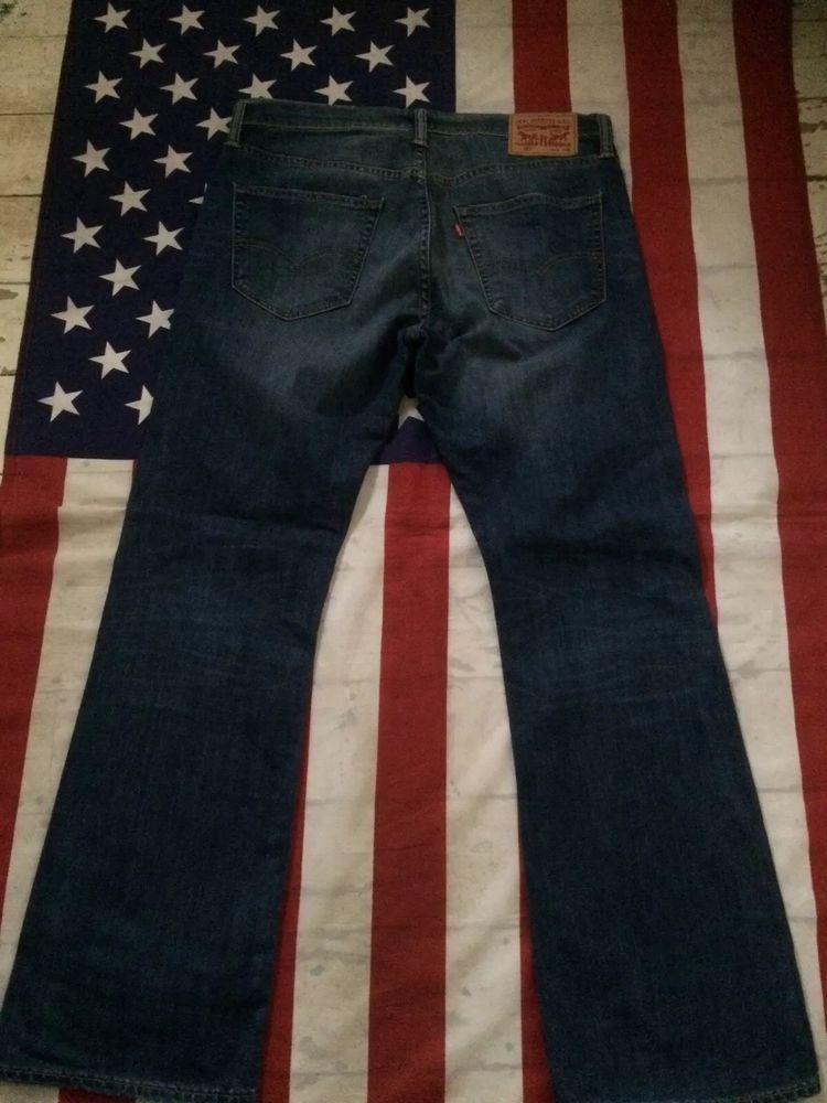 5b019287 LEVI'S 527 BOOTCUT BLUE JEANS WAIST 34' LEG 30' LEVI #Levis  #ClassicFitStraight
