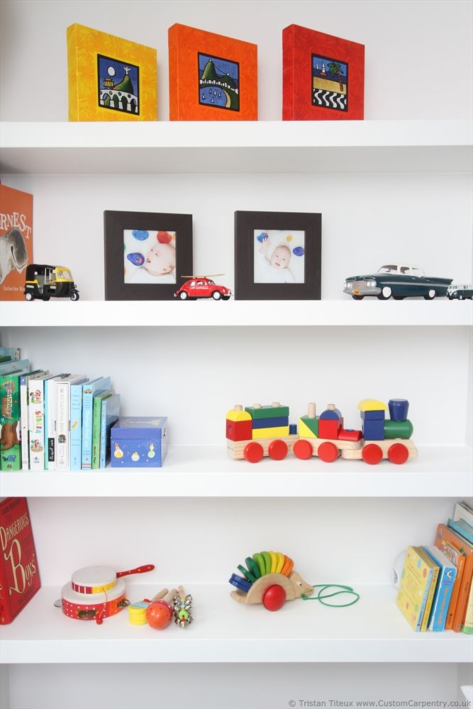 Kids Eco Floating Shelves With Natural Paint By Custom Carpentry UK Inspiration Cheap Floating Shelves Uk