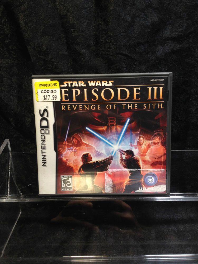 Star Wars Episode Iii Revenge Of The Sith For Nintendo Ds 3ds Xl Dsi Lite Revenge Nintendo Ds Sith