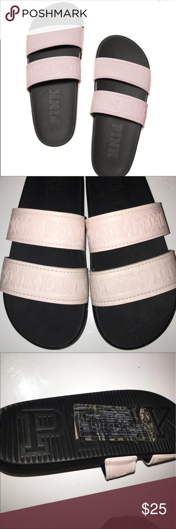dcf4768521fff Victoria Secret Pink Slides Light Pink-Size Medium, fits 7-8. New ...