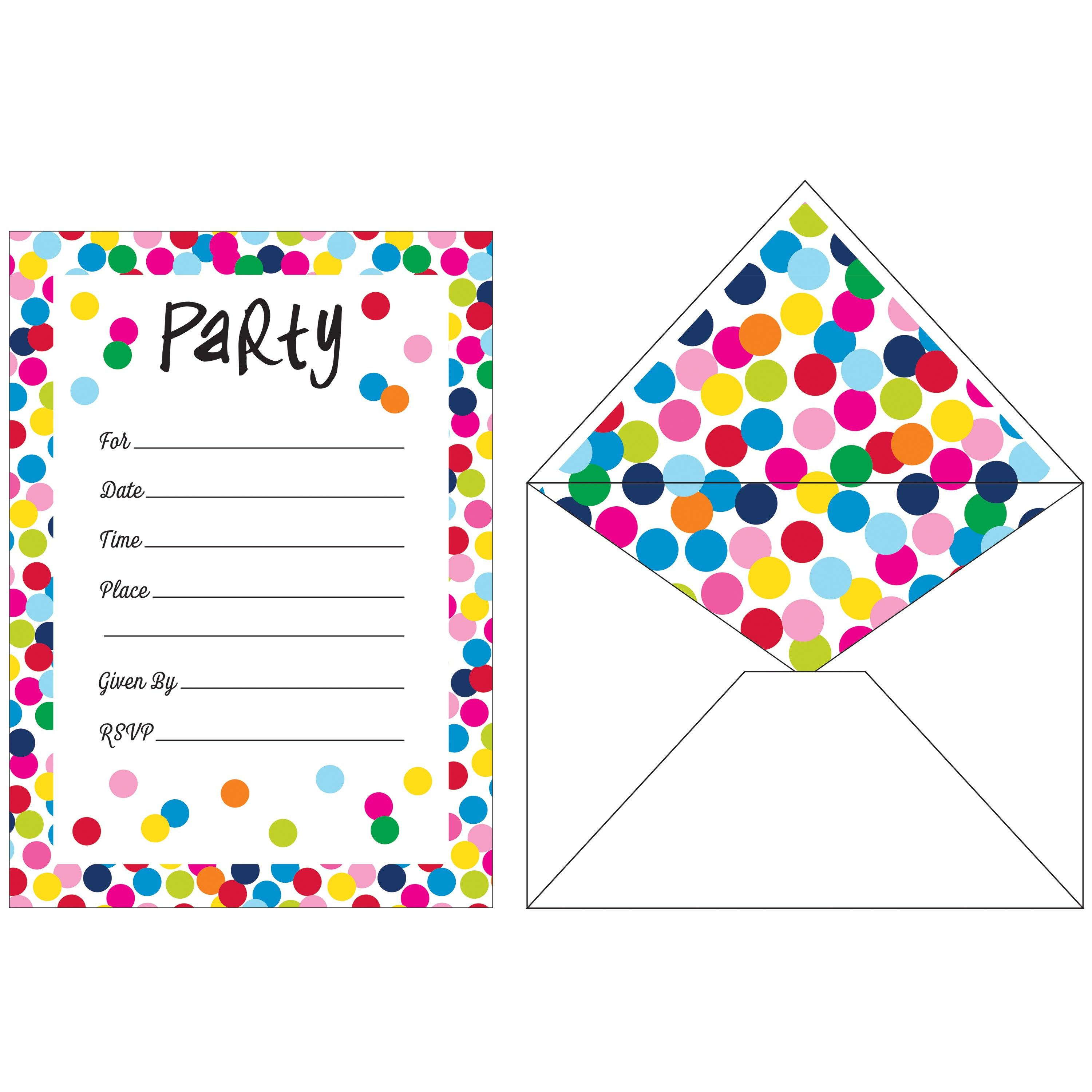 French Bull Birthday Dots InvitationsCase of Tags French
